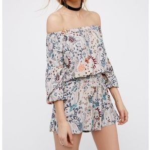 Free People Open Back Floral Romper